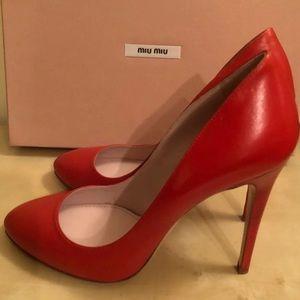 Miu Miu Red Heels Pumps 37